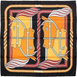 """Hermes Paris 90cm Silk Scarf """"Quadrige"""""""